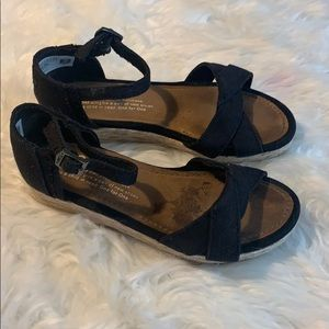 Toms Girls Wedge Sandals Size 13